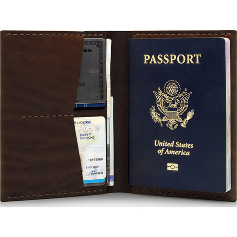 Ezra Arthur No. 5 Passport Wallet | Malbec