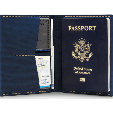 Ezra Arthur No. 5 Passport Wallet | Navy