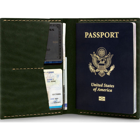 Ezra Arthur No. 5 Passport Wallet | Green