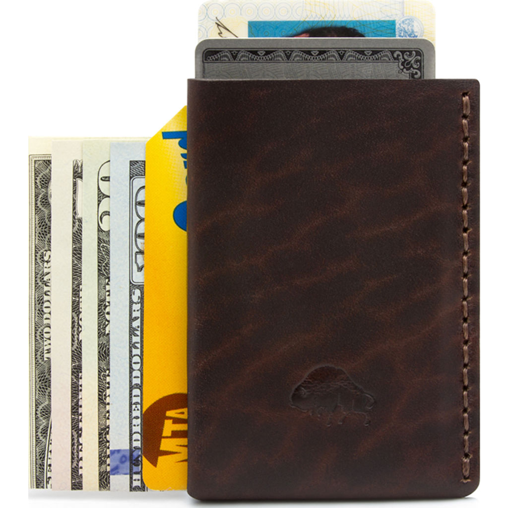 Ezra Arthur No. 7 Card Case | Malbec