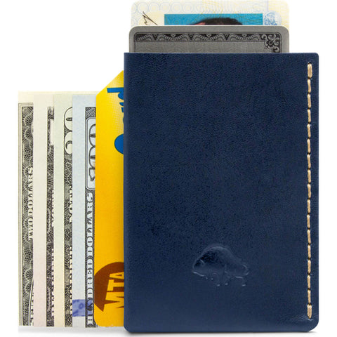Ezra Arthur No. 7 Card Case | Navy