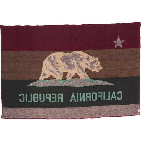Faribault California Flag Throw | Wool