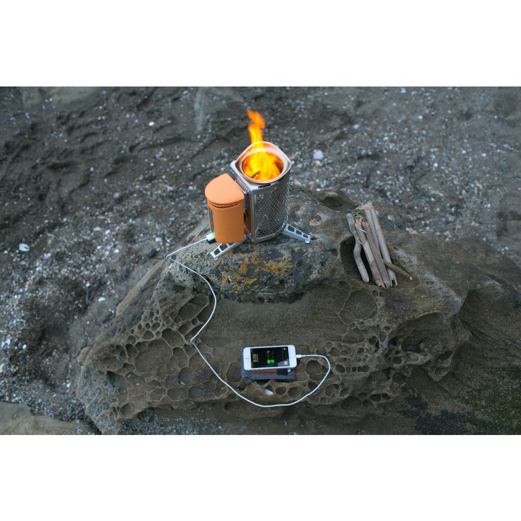 BioLite Multifunctional Campstove and Flexlight | Silver/Orange CSA1001
