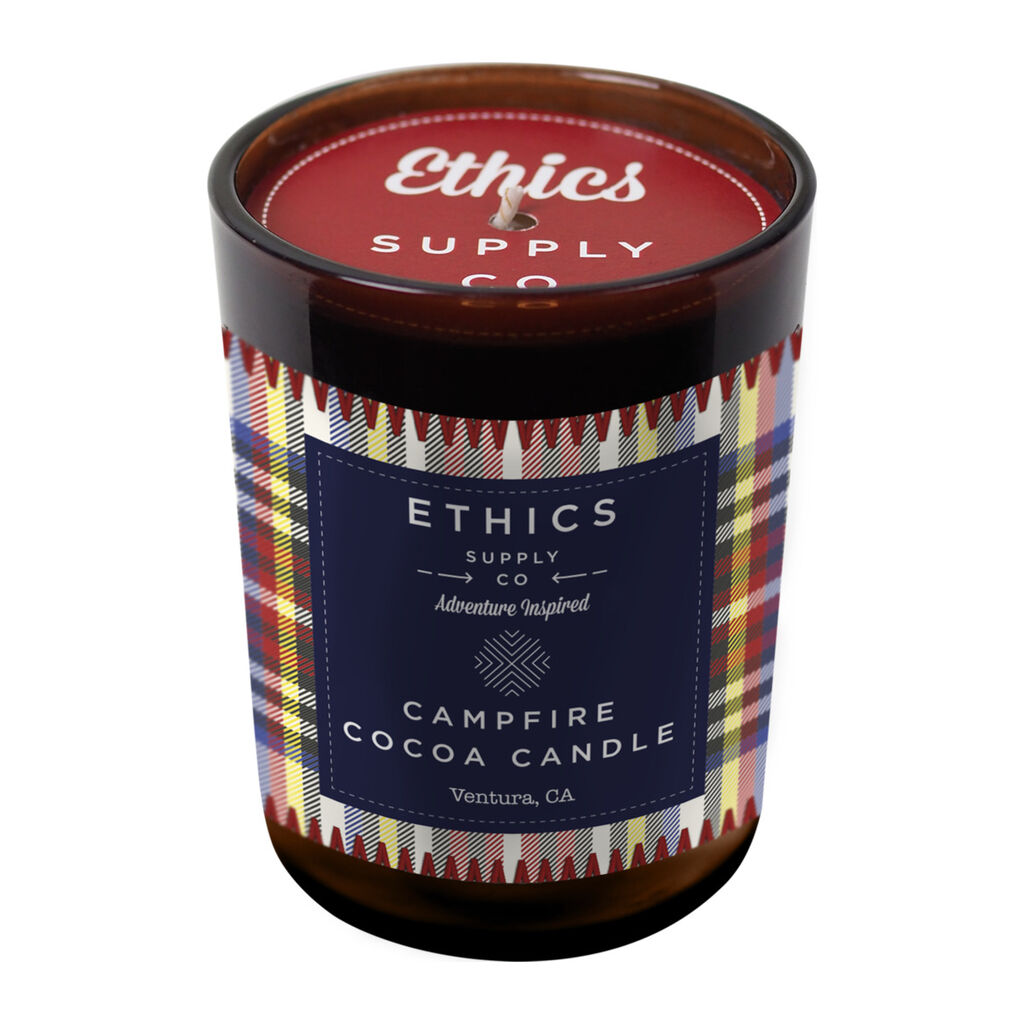 Ethics Supply Co Campfire Candle For Camping & Travel | 11 Ounce