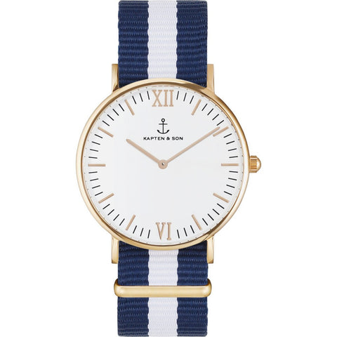 Kapten & Son Campus White Sail Nylon Watch | White