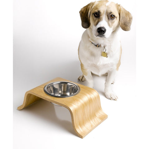Roxiedoggie Little Bend Single Dog Bowl | Maple SBHM