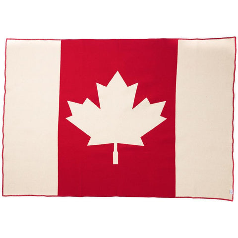 Faribault Canadian Flag Throw | Wool