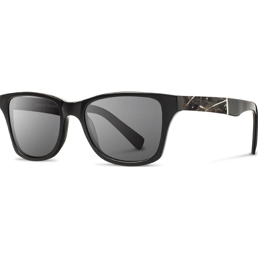 Shwood Canby Acetate Sunglasses | Black & Osprey Feather / Grey Polarized WACBOFGP