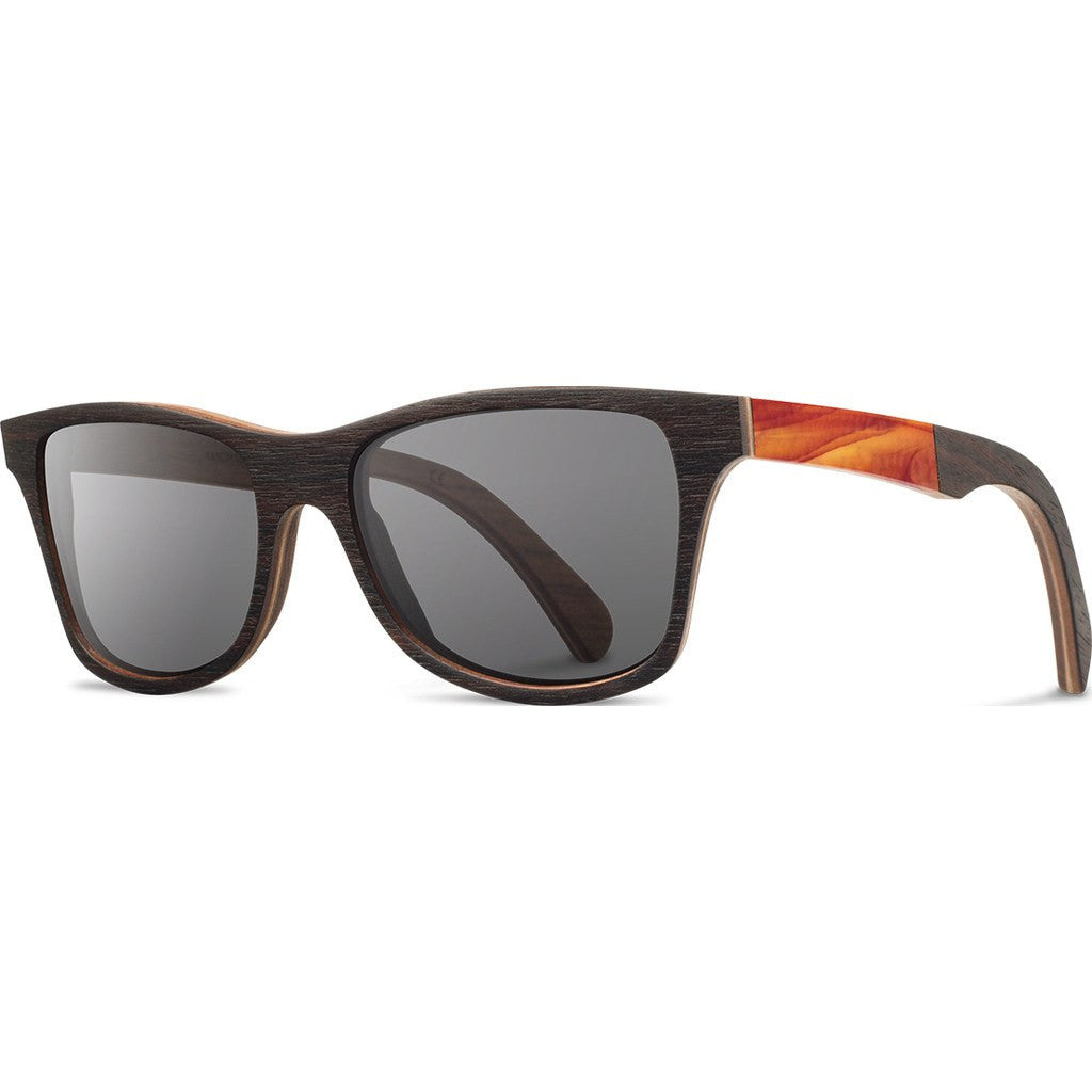 Shwood Canby Original Sunglasses | Ebony / Glass / Grey Polarized WSCEGGP