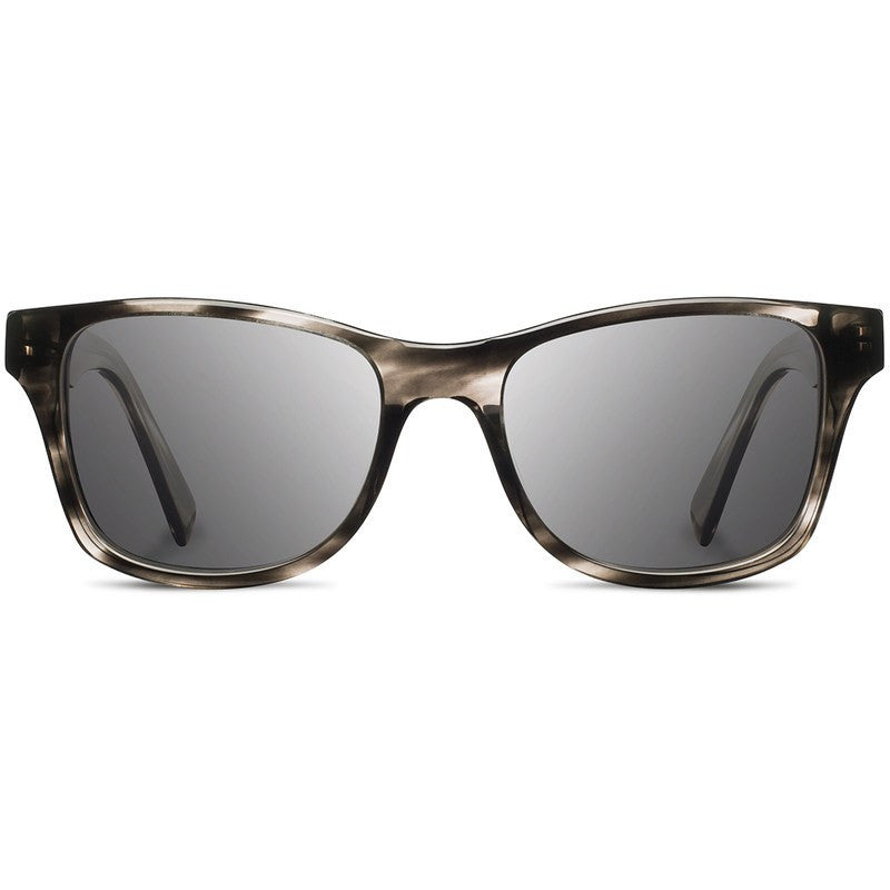 Shwood Canby Acetate Fifty Fifty Sunglasses | Pearl Grey & Ebony / Grey Polarized