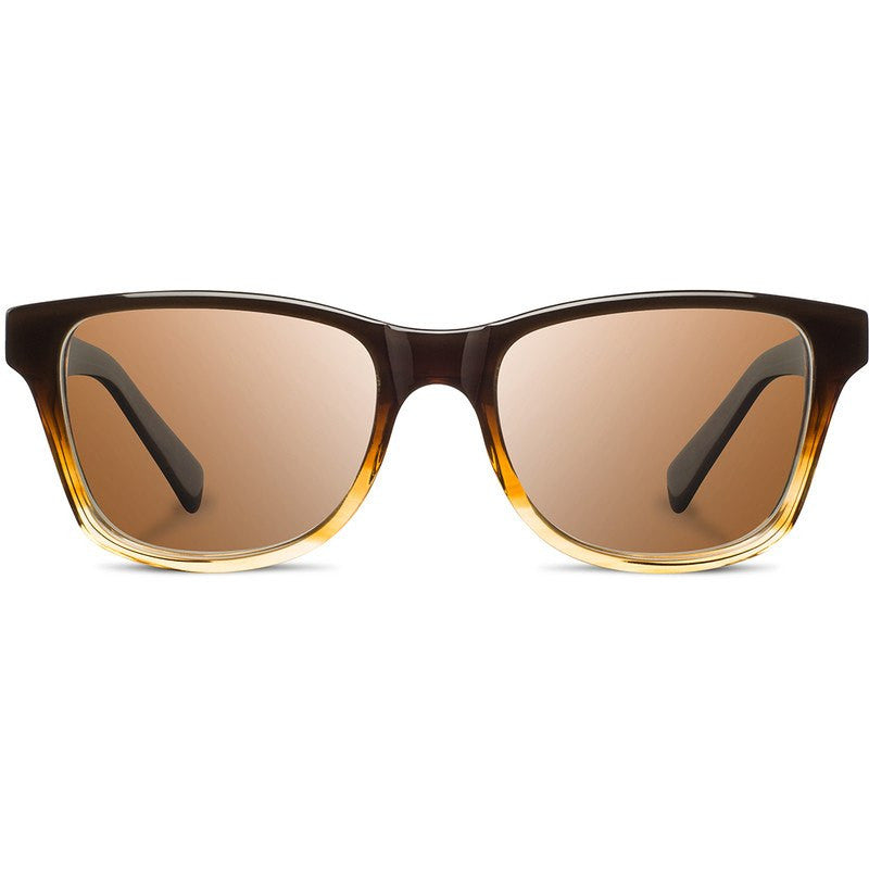 Shwood Canby Acetate Fifty Fifty Sunglasses | Sweet Tea & Elm Burl / Brown Polarized