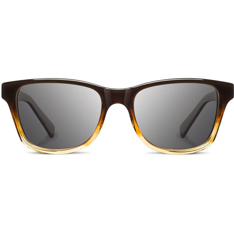 Shwood Canby Acetate Fifty Fifty Sunglasses | Sweet Tea & Elm Burl / Grey