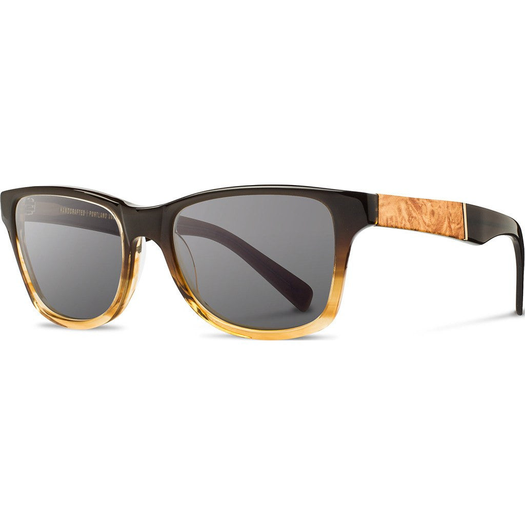Shwood Canby Acetate Sunglasses | Sweet Tea & Maple Burl / Grey Polarized WACSTMAGP