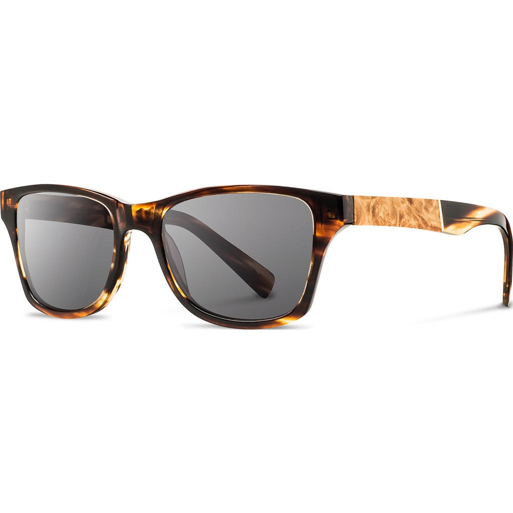 Shwood Canby Acetate Sunglasses | Tortoise & Maple Burl / Grey Polarized WACTMAGP