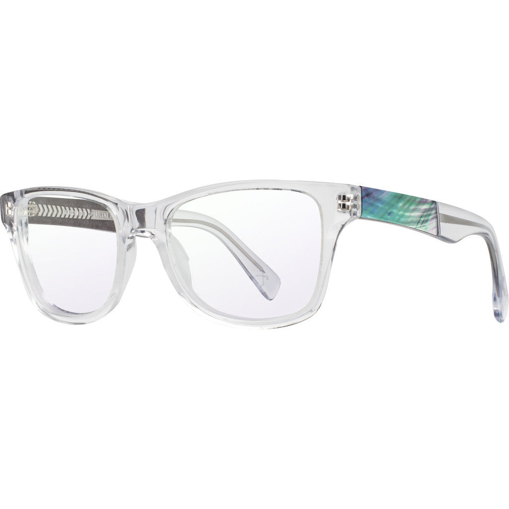 Shwood RX Canby Acetate Sunglasses | Crystal & Abalone Shell -WRXCC2AS