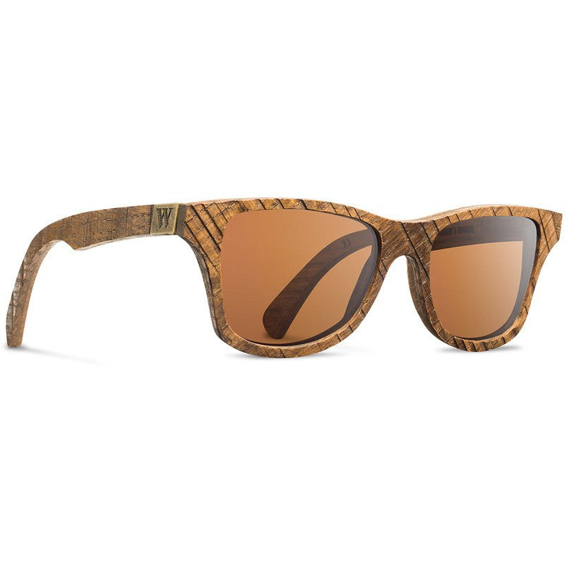 Shwood x Widmer Canby Select Sunglasses | Skip Sawn Oak / Brown Polarized