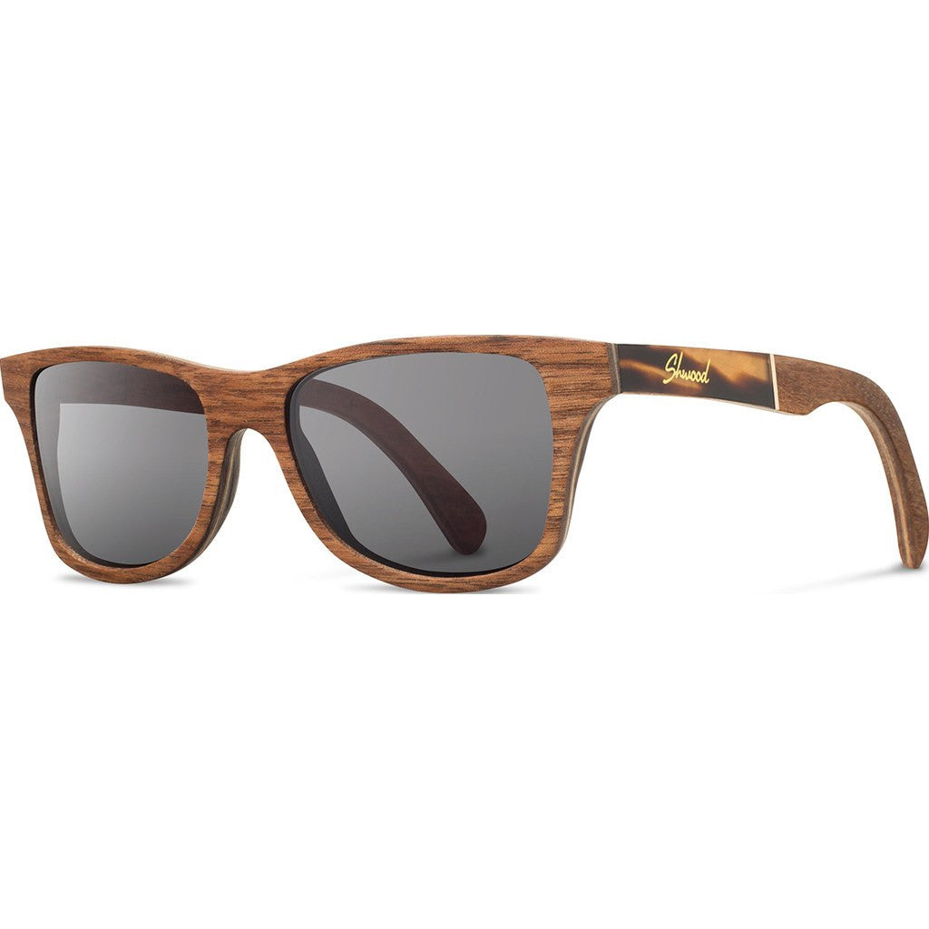 Shwood Canby Original Sunglasses | Walnut / Tortoise / Grey Polarized WOCWTGP