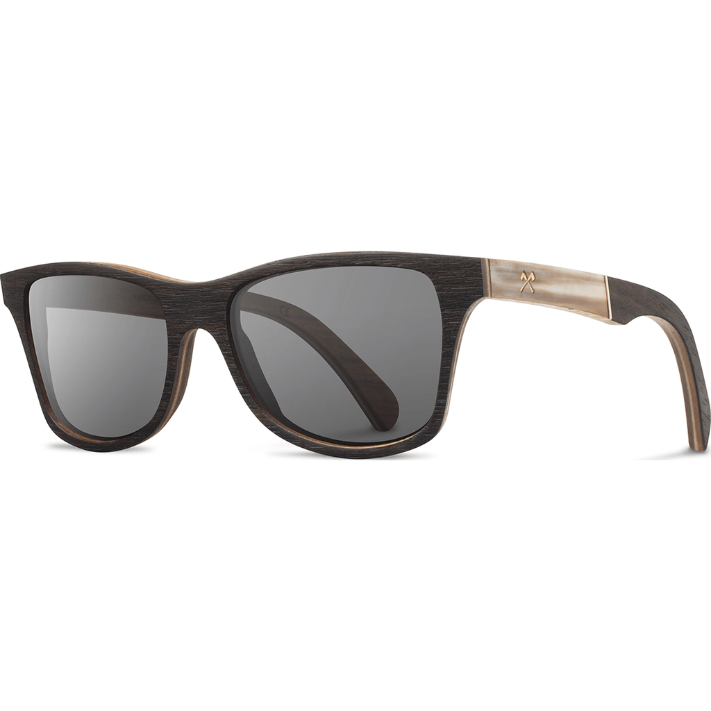 Shwood Canby Original Sunglasses | Ebony / Horn / Grey Polarized