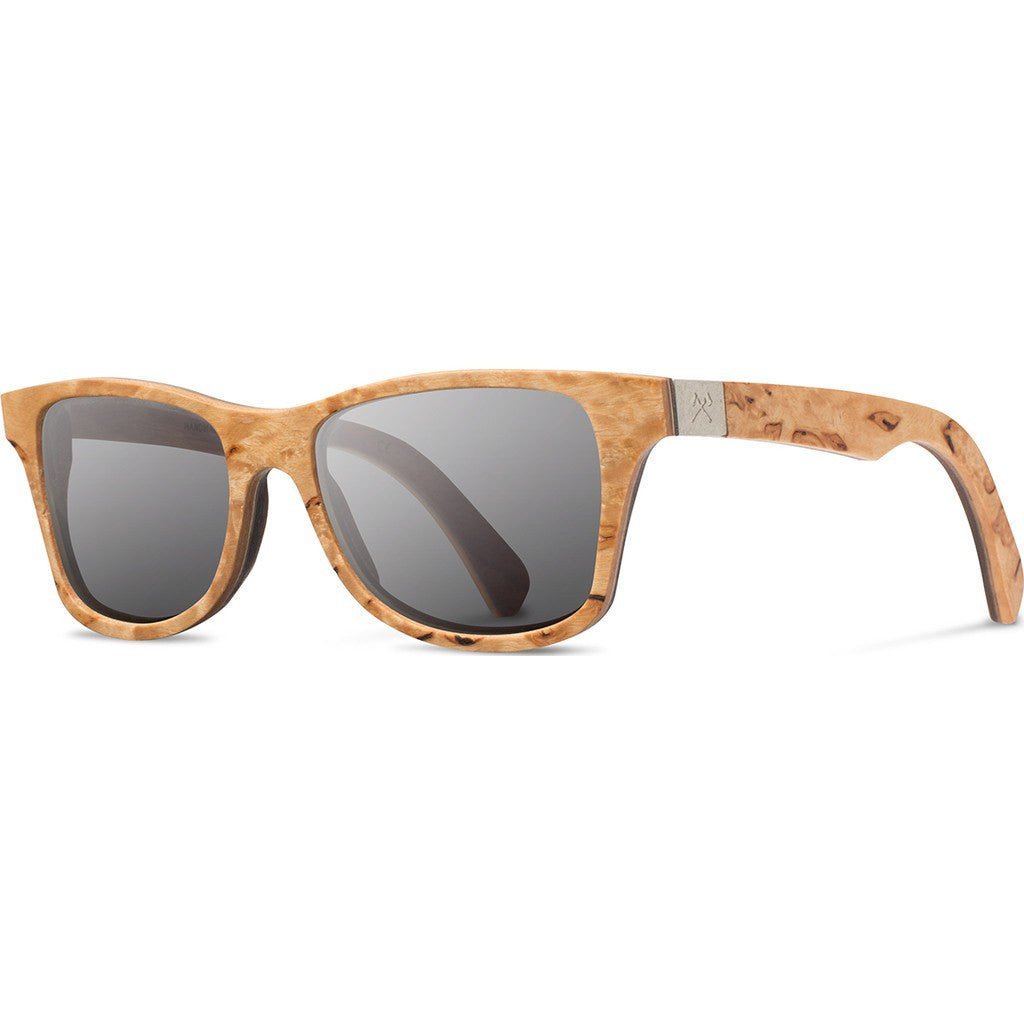 Shwood Canby Original Sunglasses | Karrelian Burl / Walnut / Grey Polarized