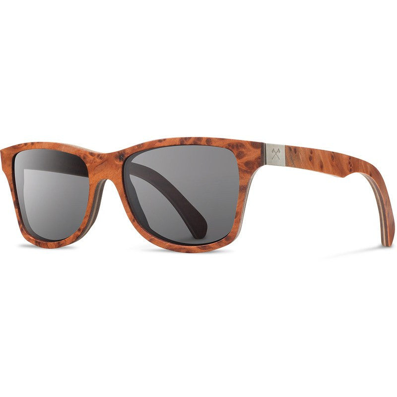 Shwood Canby Select Sunglasses | Redwood Burl & Walnut / Grey Polarized