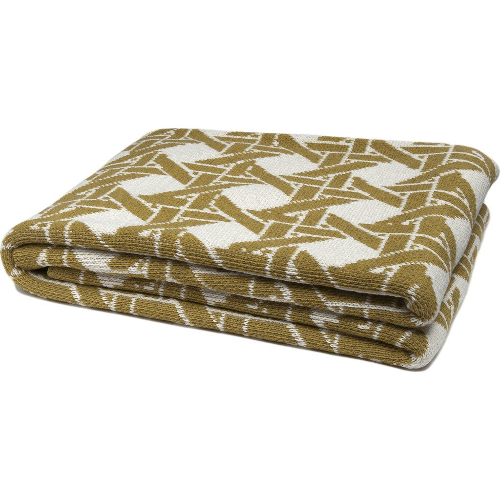 in2green Cane Eco Throw | Milk/Moss BL01CA2