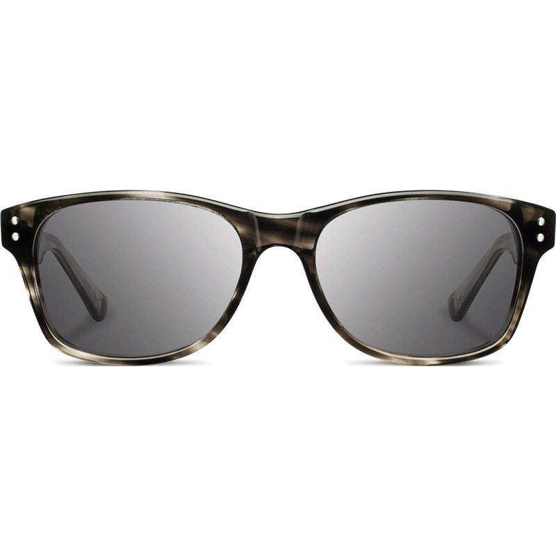 Shwood Cannon Acetate Sunglasses | Pearl Grey & Elm Burl / Grey Polarized