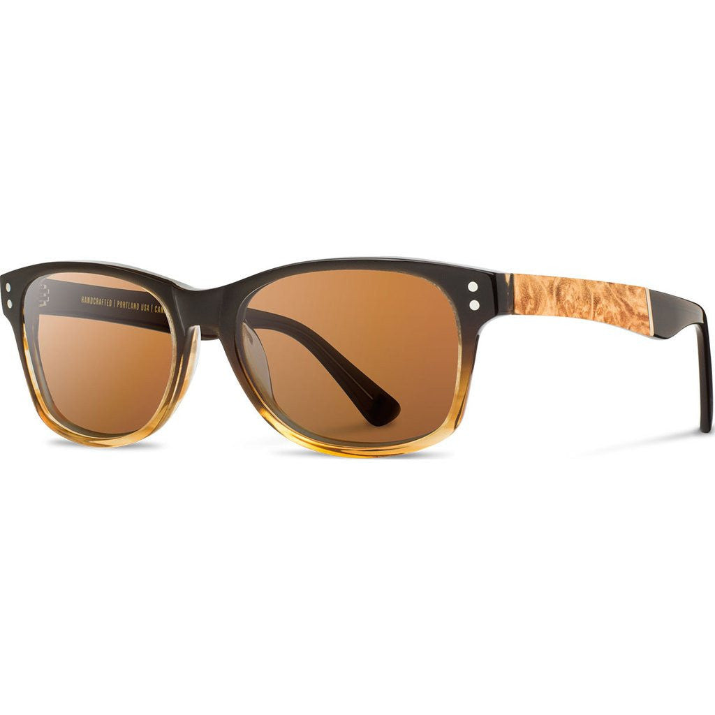 Shwood Cannon Acetate Sunglasses | Sweet Tea & Maple Burl / Brown Polarized