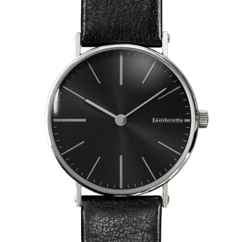 Lambretta Cesare Black Watch | Black Leather