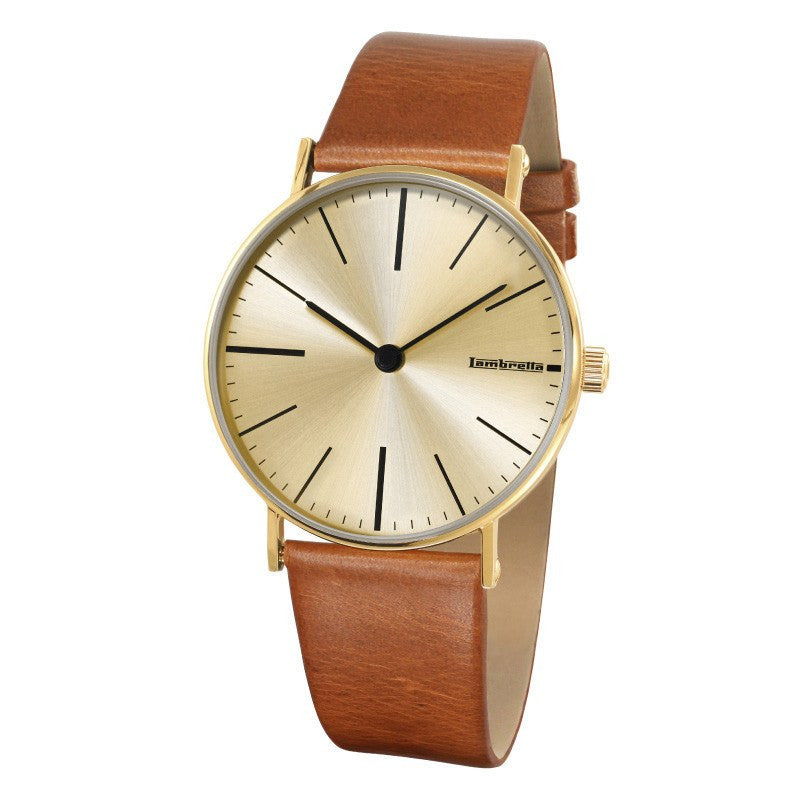 Lambretta Cesare Gold Watch | Cognac Leather