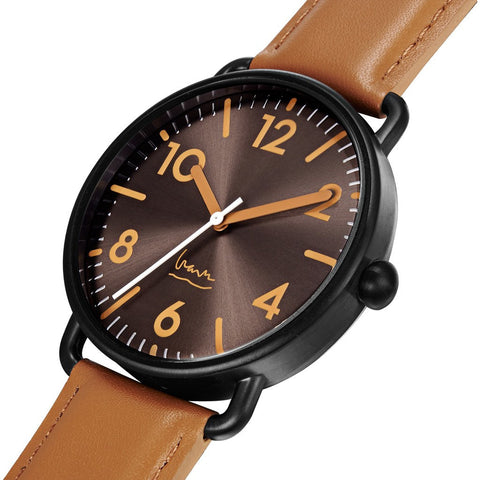 Projects Watches Witherspoon Watch | Black/Tan Leather 7110 C