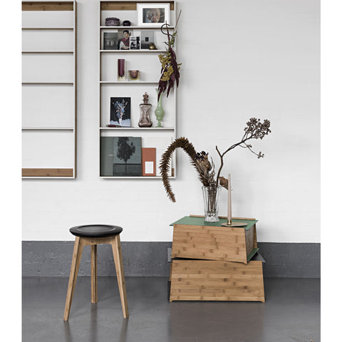 We Do Wood Button Stool |  Black