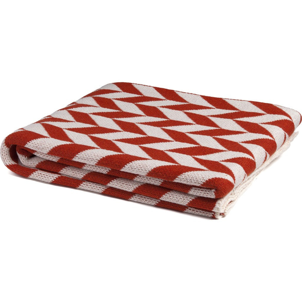 in2green Chevron Eco Throw | Milk/Spice BL01CH1