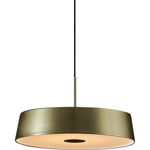 Seed Design China LED Pendant | Matt Brass/Black- SLD-6354MP-BRS