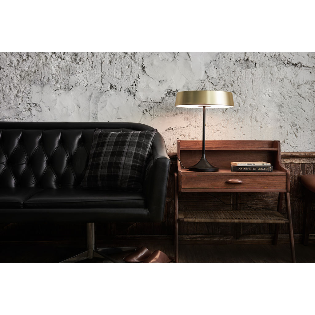 Seed Design China LED Table Lamp | Matt Brass/Black