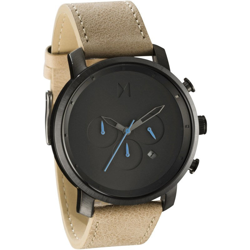 MVMT Chrono Watch | Gun Metal/Sandstone Leather
