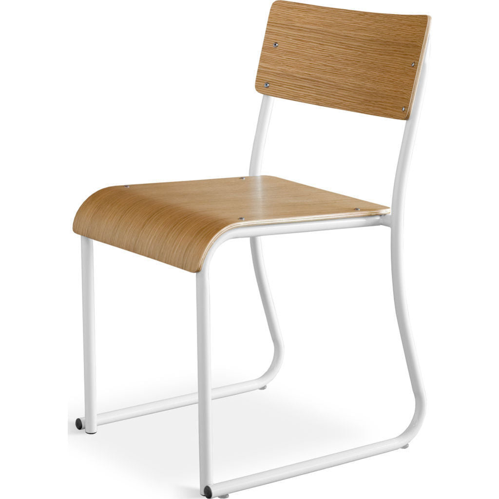 Gus* Modern Church Chair | White/Oak ECCHCHUR-wp-on