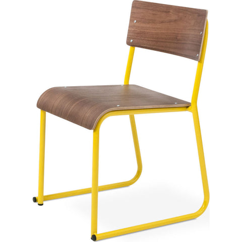 Gus* Modern Church Chair | Canary/Walnut ECCHCHUR-cpc-wn