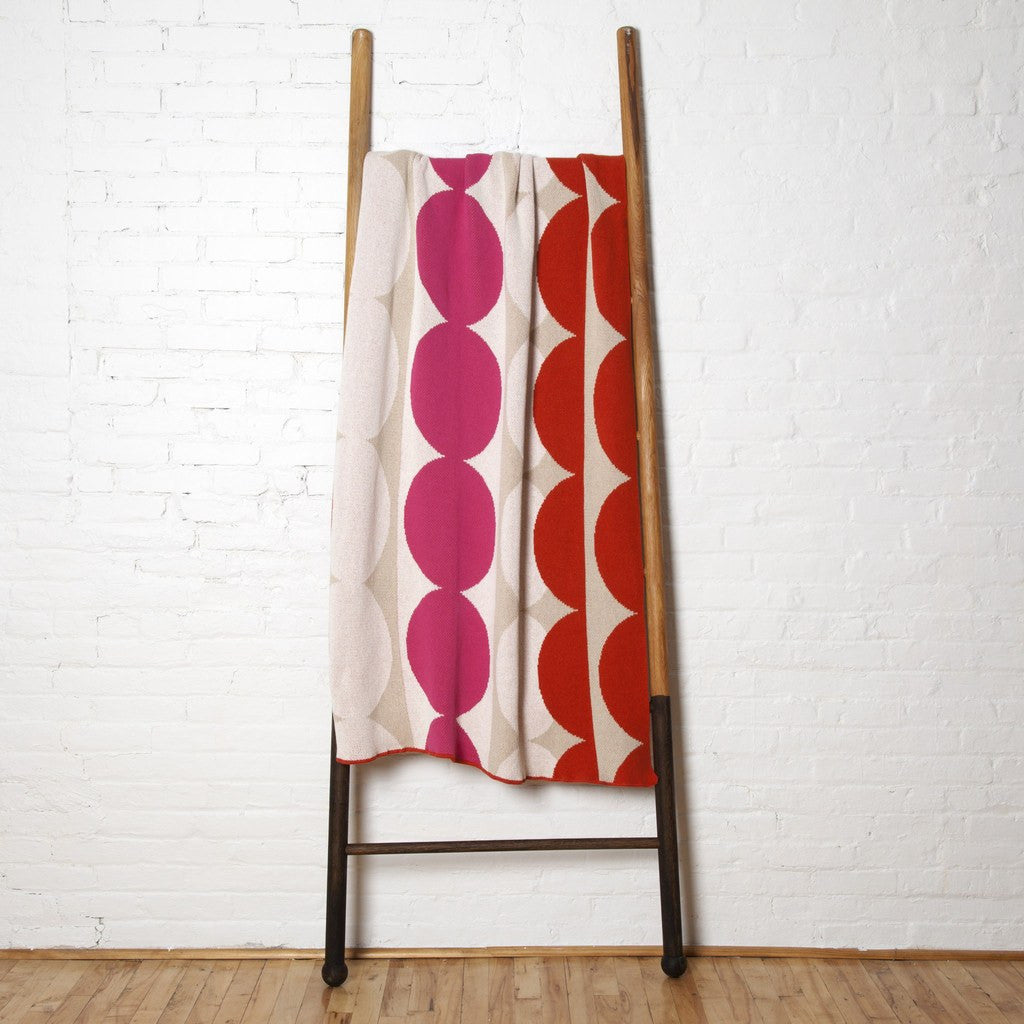 in2green Circles Eco Throw | Spice/Fuchsia/Flax BL01CL1