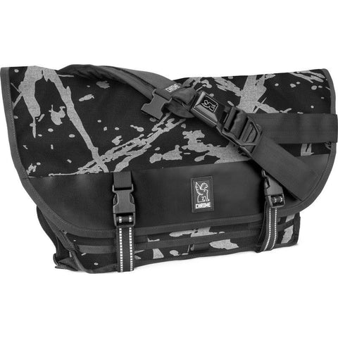 Chrome Citizen Ltd Messenger Bag | Black/Grey Reflective