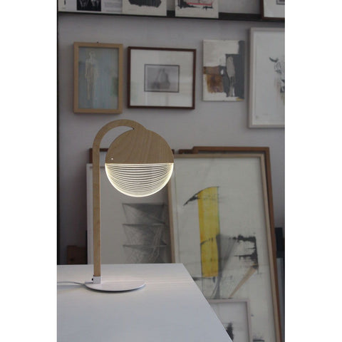 Studio Cheha City LED Table Lamp | Iron/Birch Ch-City