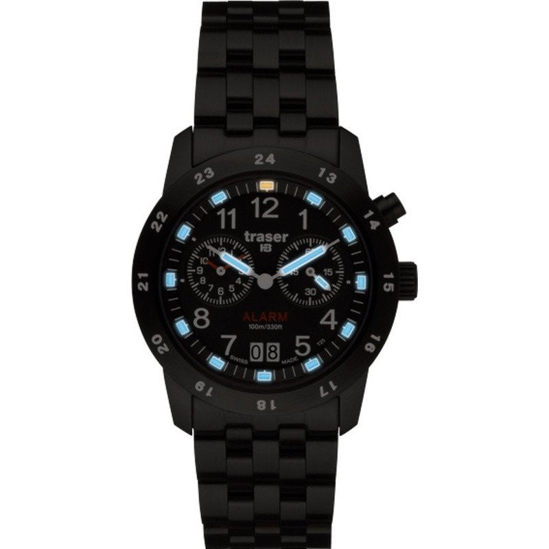 traser H3 Alarm BD Pro Blue Watch | PVD Steel Strap 100264