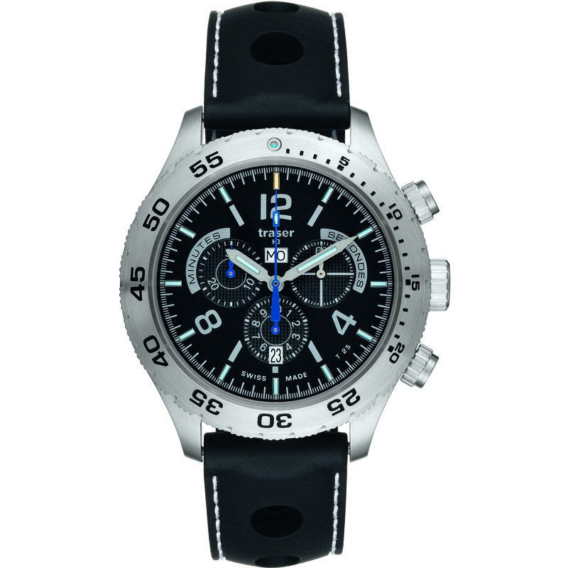 traser H3 Classic Elegance Chronograph Men's Watch Silicone Master Strap