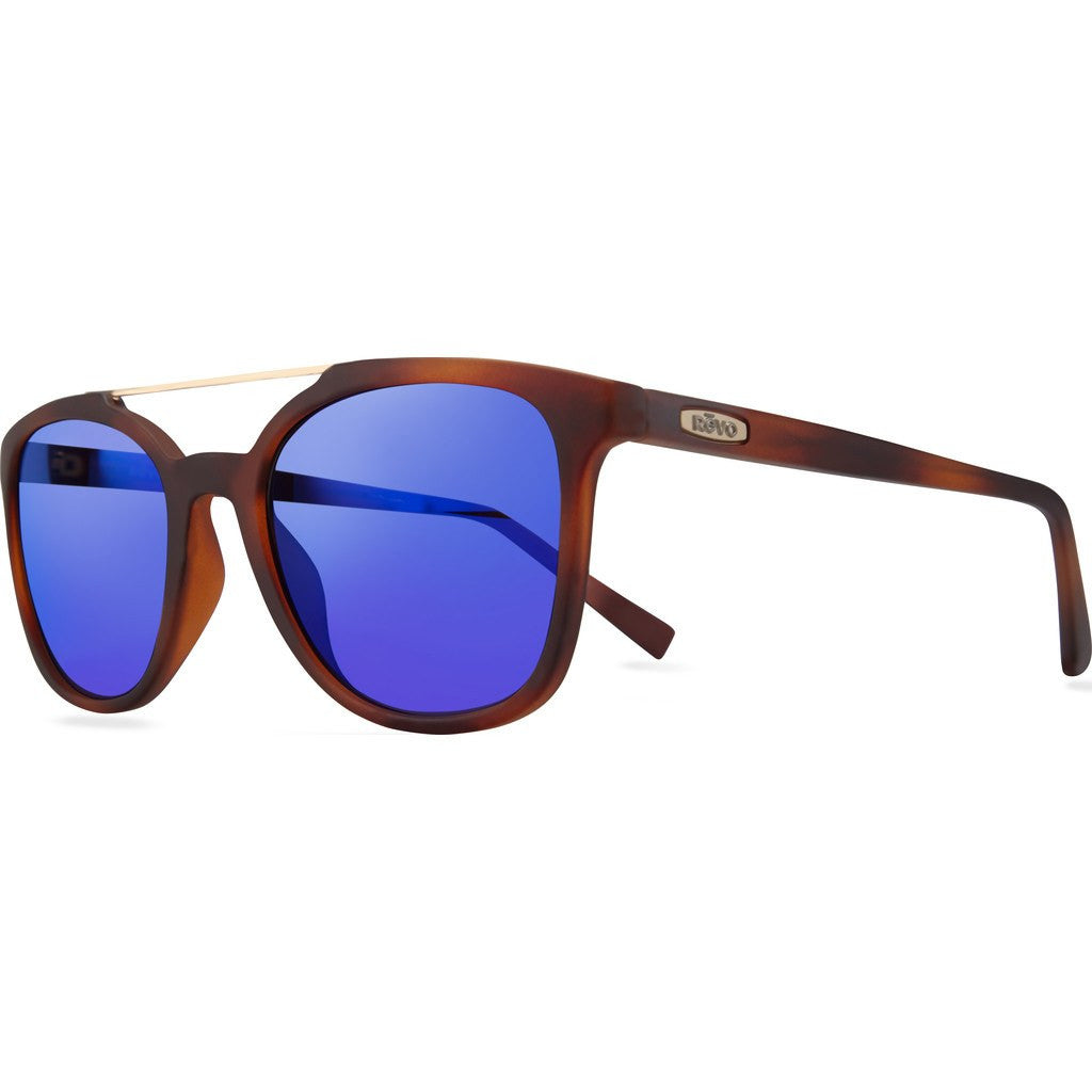 Revo Eyewear Clayton Matte Honey Horn Sunglasses | H20 Blue RE 1040 22 GBH