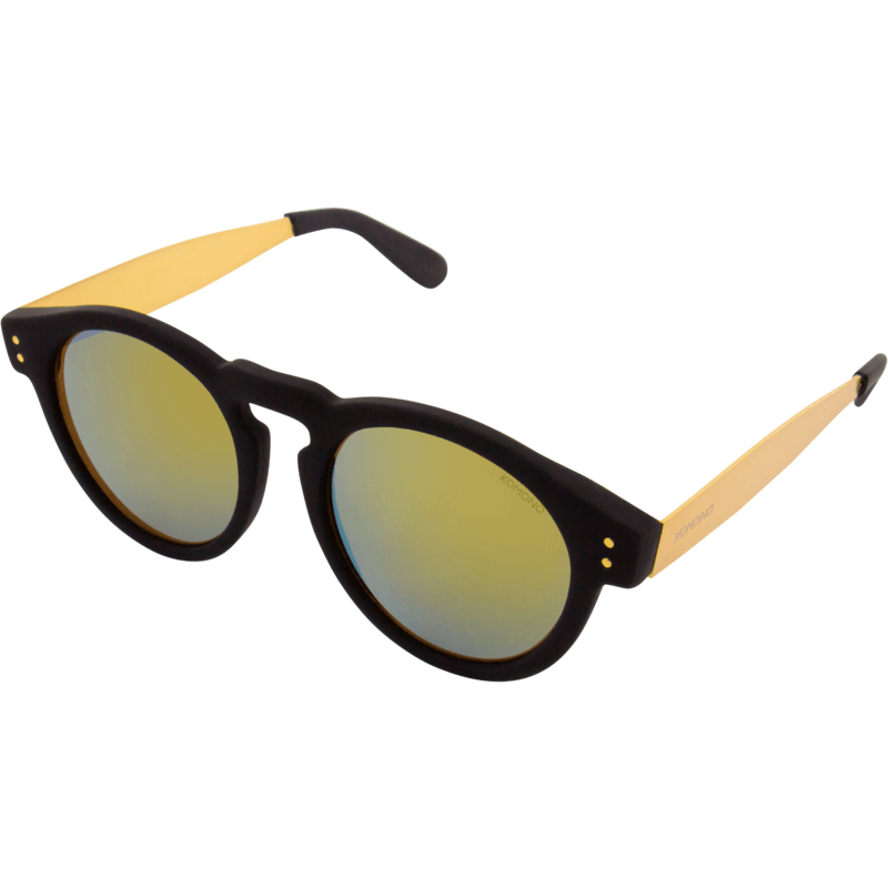 Komono Clement Metal Series Sunglasses | Black/Gold