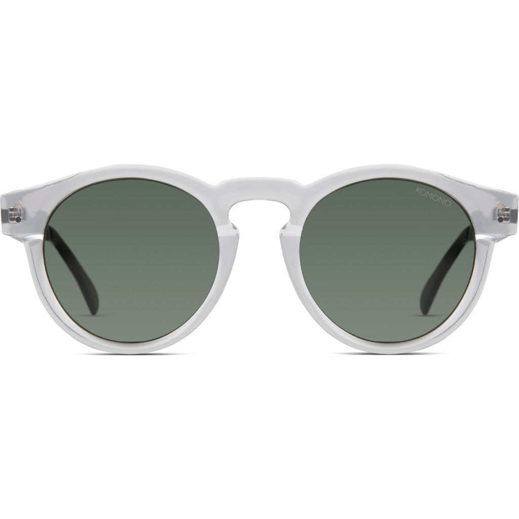 Komono Clement Sunglasses | Clear/Silver- KOM-S1674