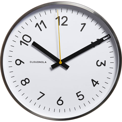 Cloudnola Now Wall Clock | Steel BS Diam 12 SKU0002