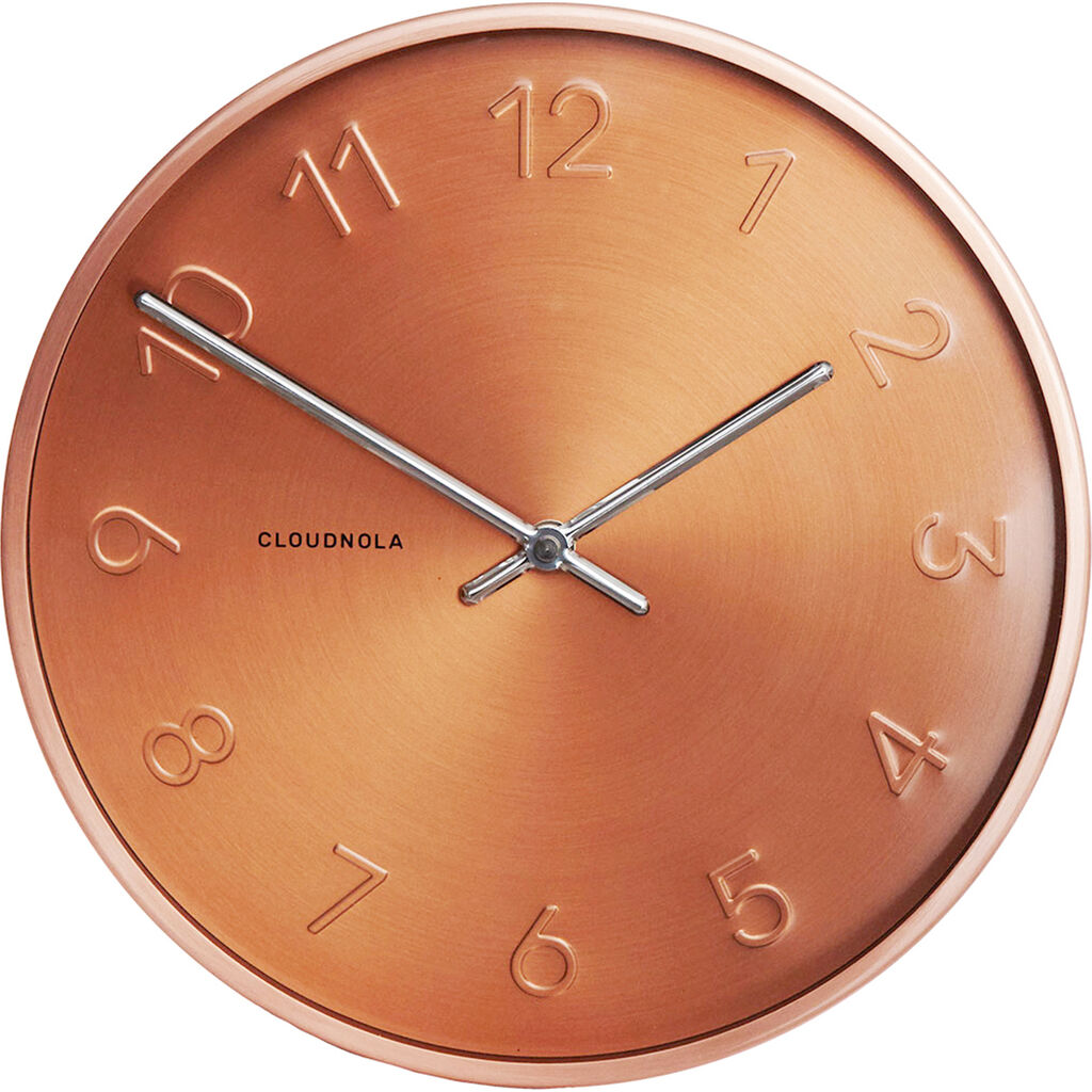 Cloudnola Trusty Wall Clock | Dutch Copper Diam 12 SKU0007