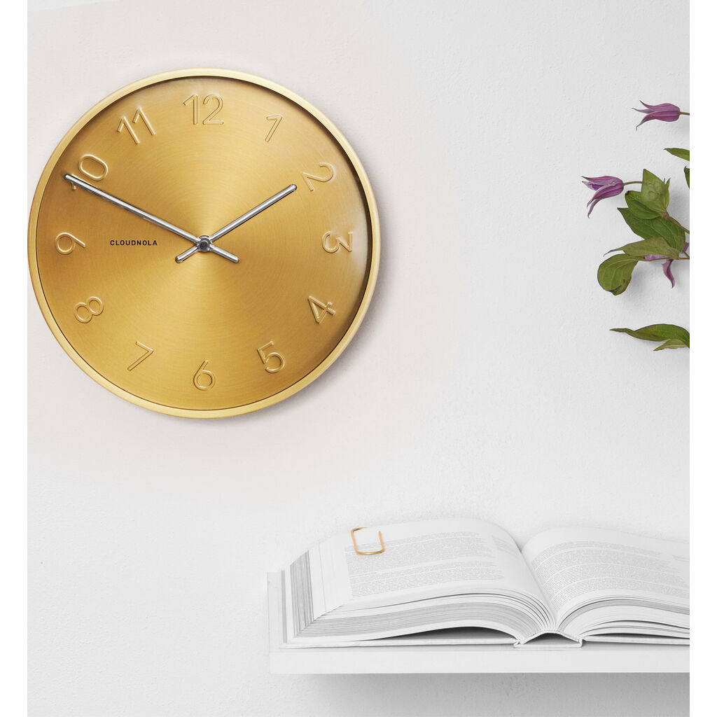 Cloudnola Trusty Wall Clock | Dutch Gold Diam 12 SKU0009