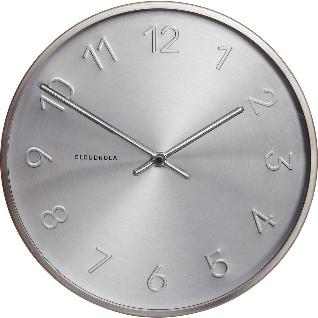 Cloudnola Trusty Wall Clock | Dutch Silver Diam 12 SKU0008