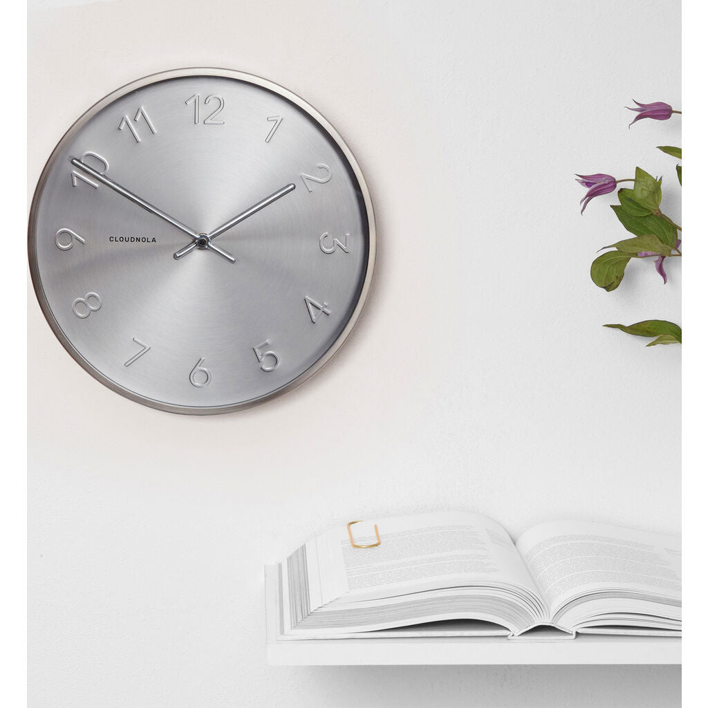 Cloudnola Trusty Wall Clock | Dutch Silver Diam 12 SKU0009